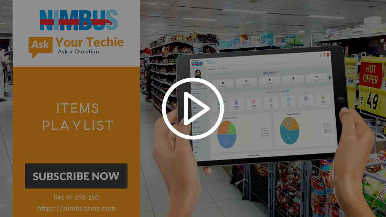 online retail software POS tutorial- Line Items